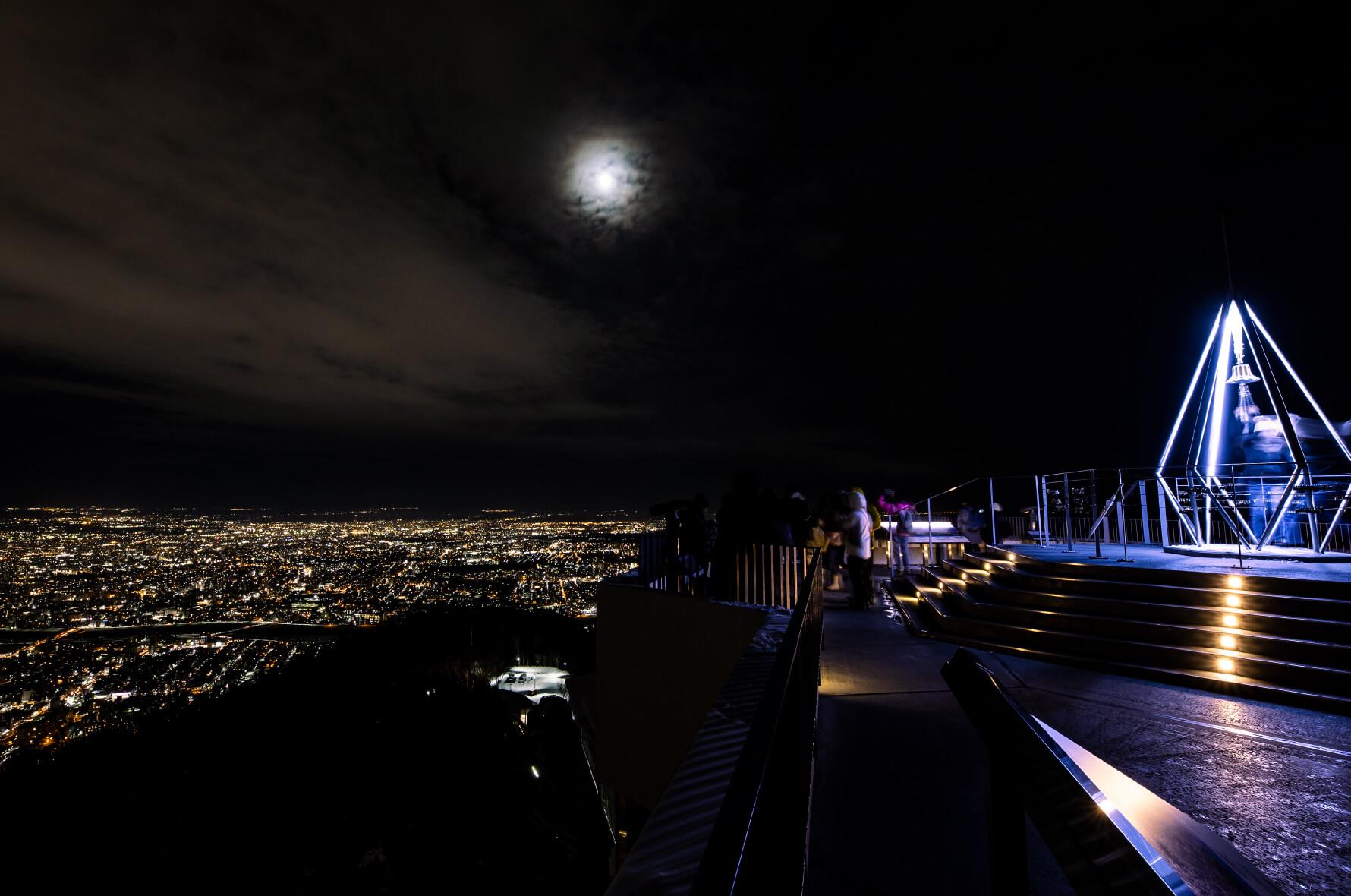 もいわ山山頂展望台からの夜景