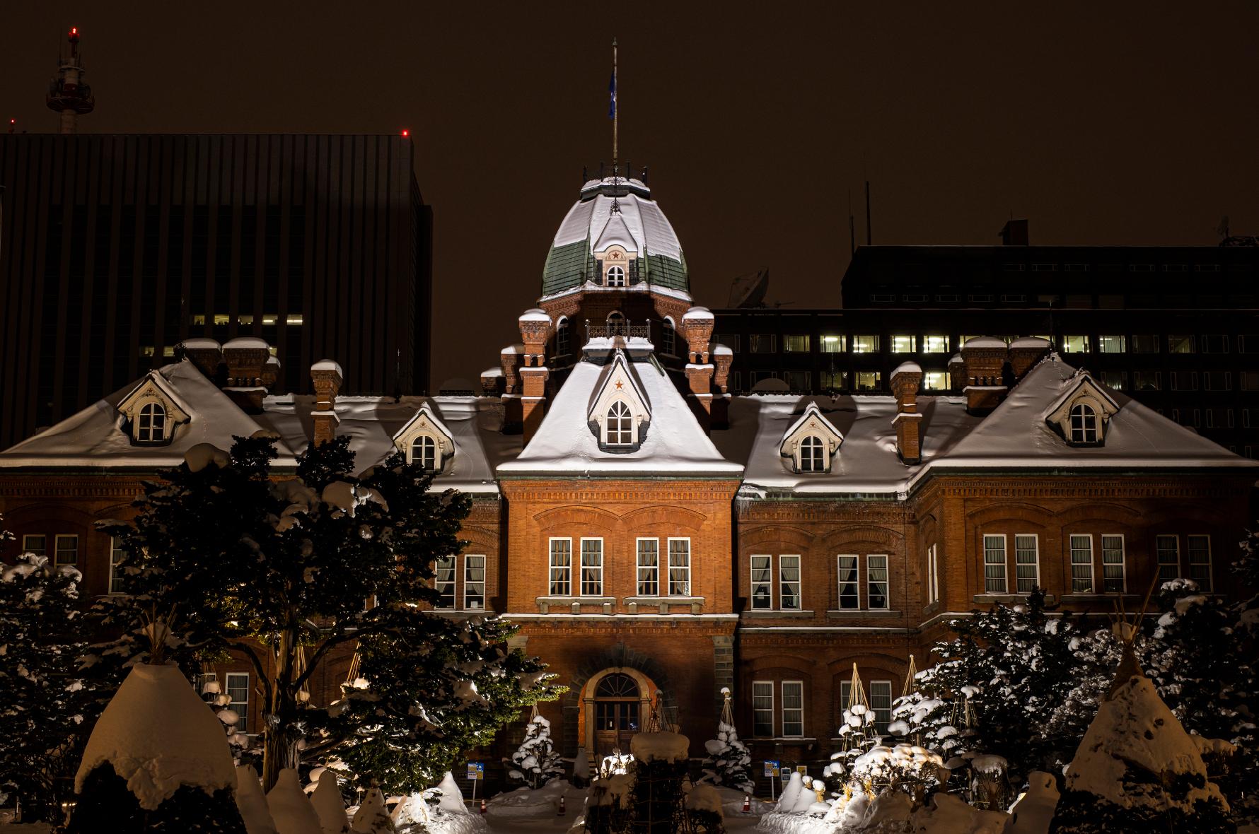 赤れんが庁舎ライトアップ